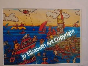 RNLI Prints Jo Elizabeth Dogs to The Rescue Out to Sea
