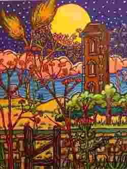 The Water Tower South Shields Original Acrylic Painting