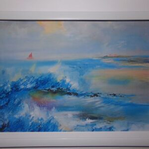 bamburgh coast painting