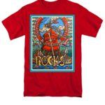 south shields rocks red tshirt
