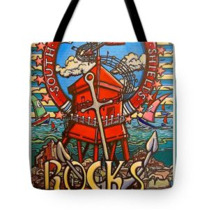 south shields rocks tote bag