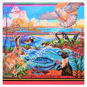 Wildlife South Shields Print Painting