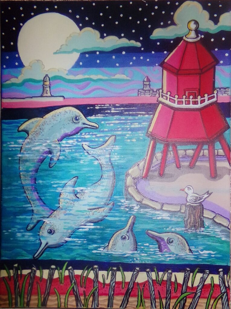 Dolphins at South Shields Pier